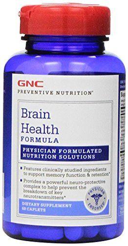 Study Links Dietary Supplement To Brain >> Gnc Preventive Nutrition Brain Health Formula 60 Caplets Check
