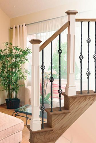 Colonial Elegance Contemporary 35 7 8 Venetian Bronze Wrought Iron 1 Basket Stair Front Baluster At Menards Wrought Iron Stairs Sycamore House Iron Balusters