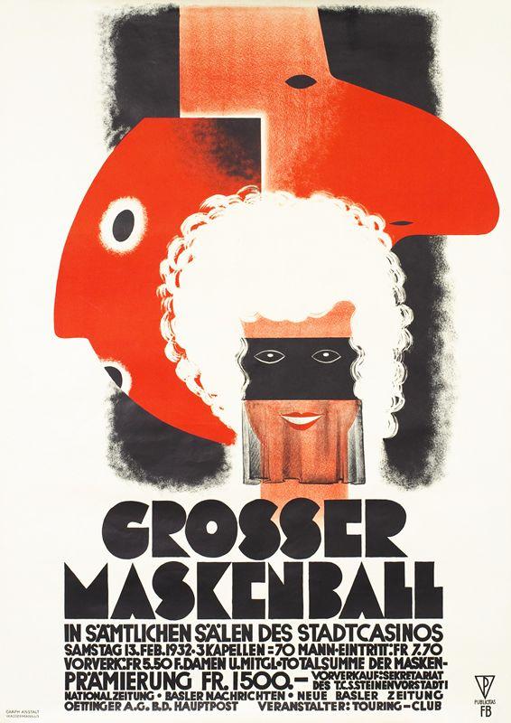 Fritz Buhler Poster: Grosser Maskenball