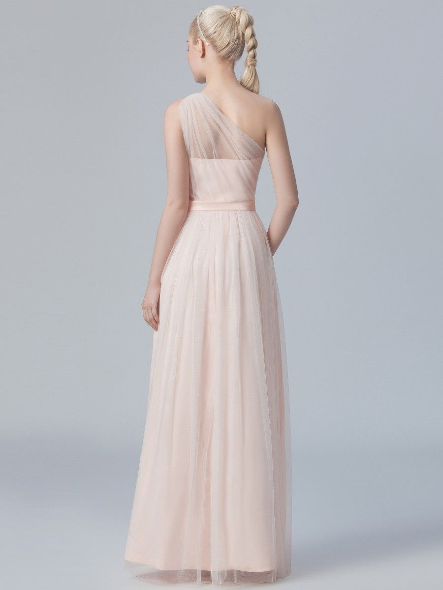 Oneshoulder Pleated Tulle Dress Plus and Petite sizes