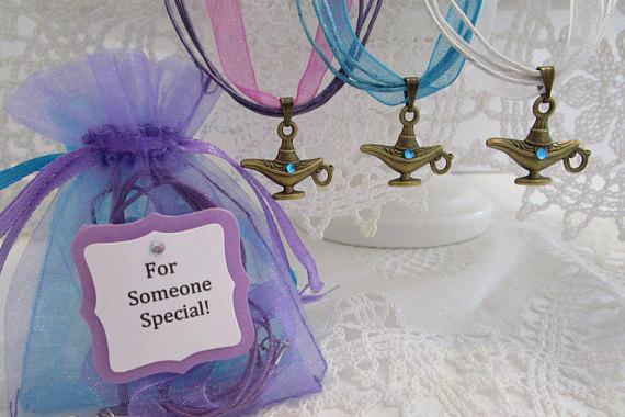 Set Of 10 Jasmine Genie Lamp Necklaces Genie Lamp Necklaces