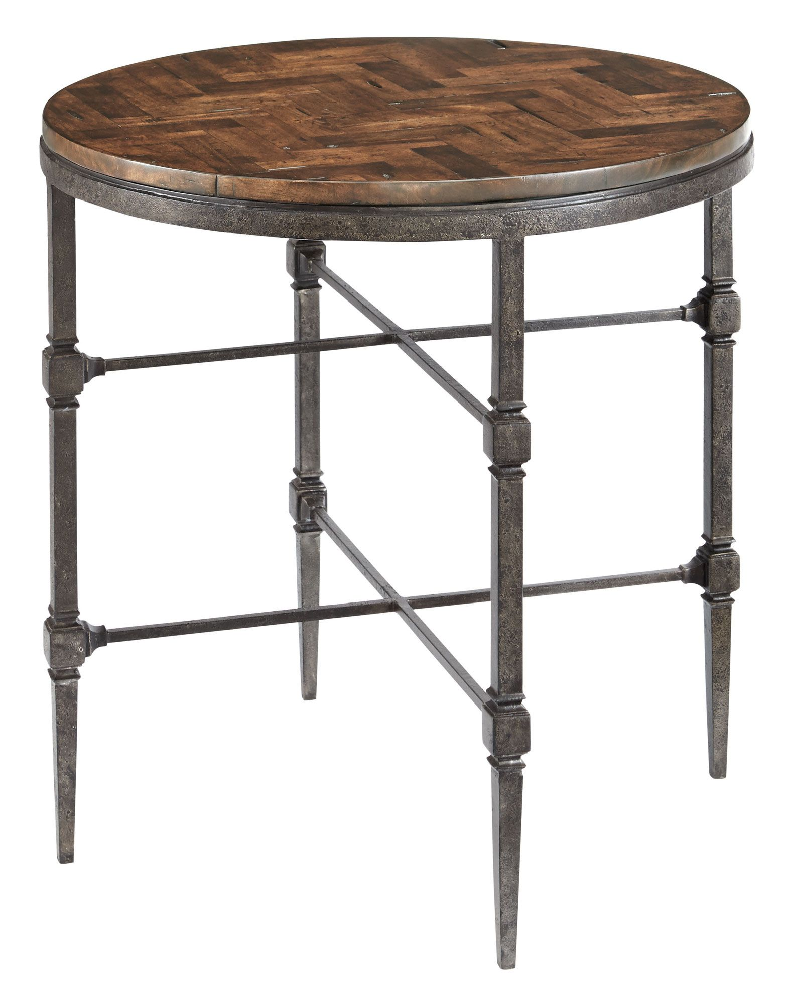 486-121T 486-121 Everett End Table with Wood Top and Metal Base ...