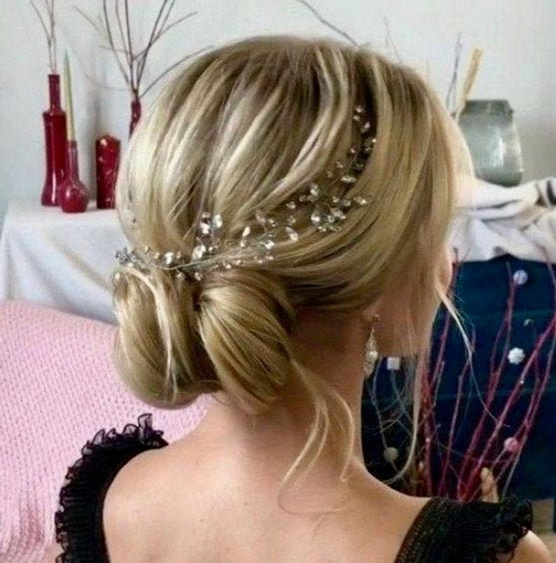 Wedding Hair Vine Crystals hair vine Silver Bridal hair | Etsy