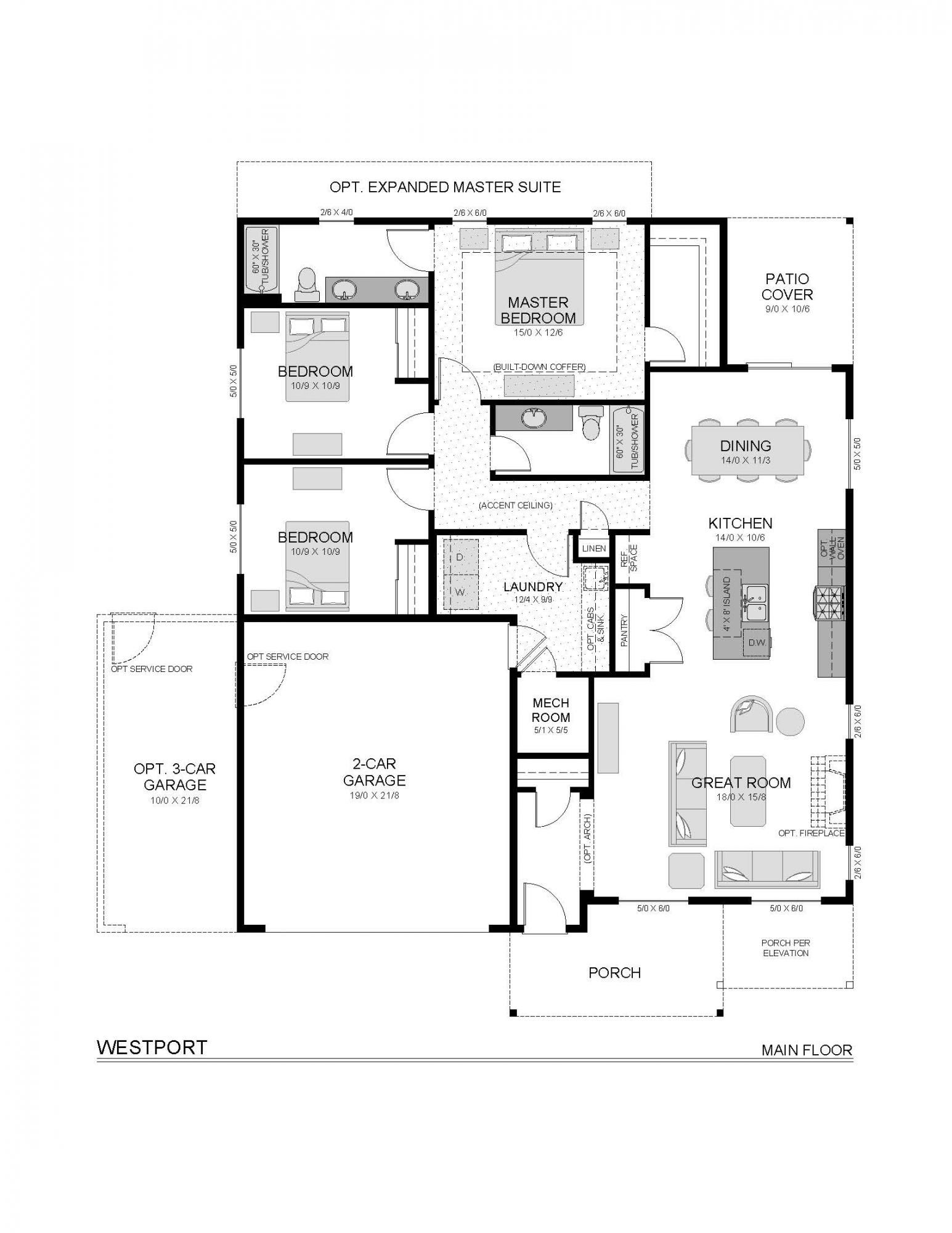 Westport mf small floor plans custom home builders custom homes plan design