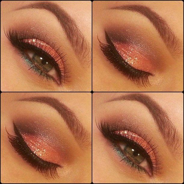 Tangerine Glitter eyes ♥ - @mia motiee motiee Russo
