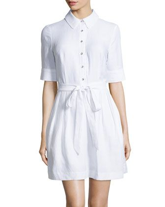 Cleo Tie-Waist Shirtdress 185b977617c73