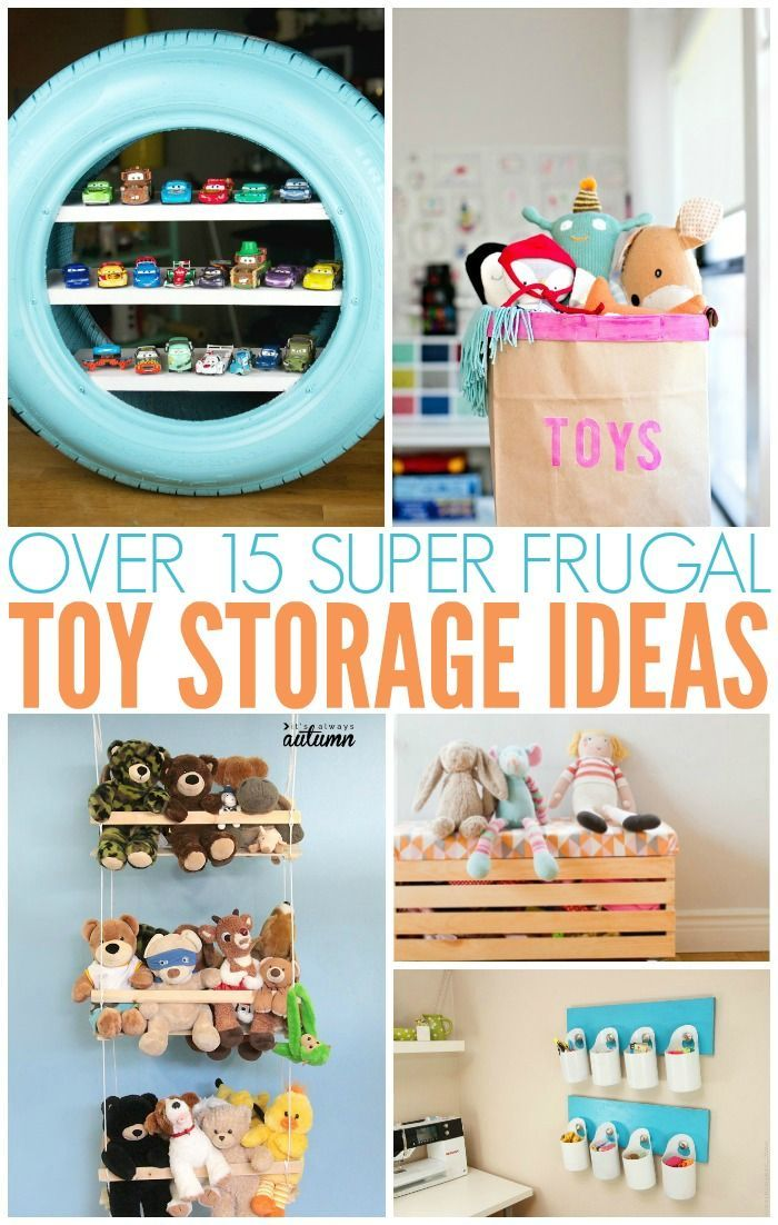 Easy Frugal Toy Storage Ideas Diy Toy Storage Kids Toy