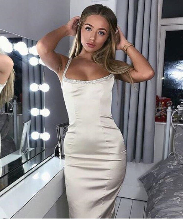 e181ad57ad New fashional blogger luxury bodycon satin women party outfit ...