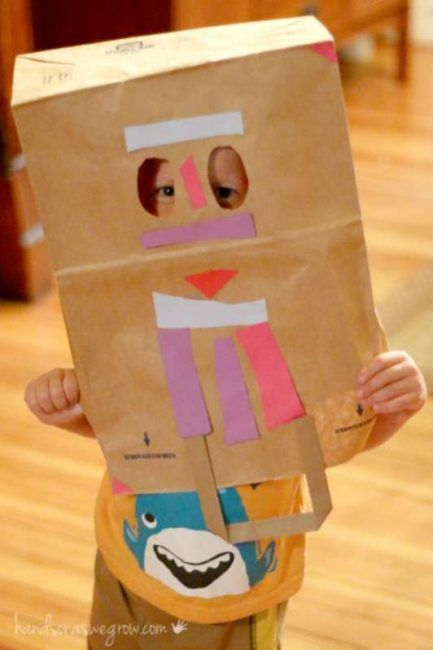Cardboard Masks To Decorate Make A Paper Bag Mask A Classic Summer Craft For Kids  Brown