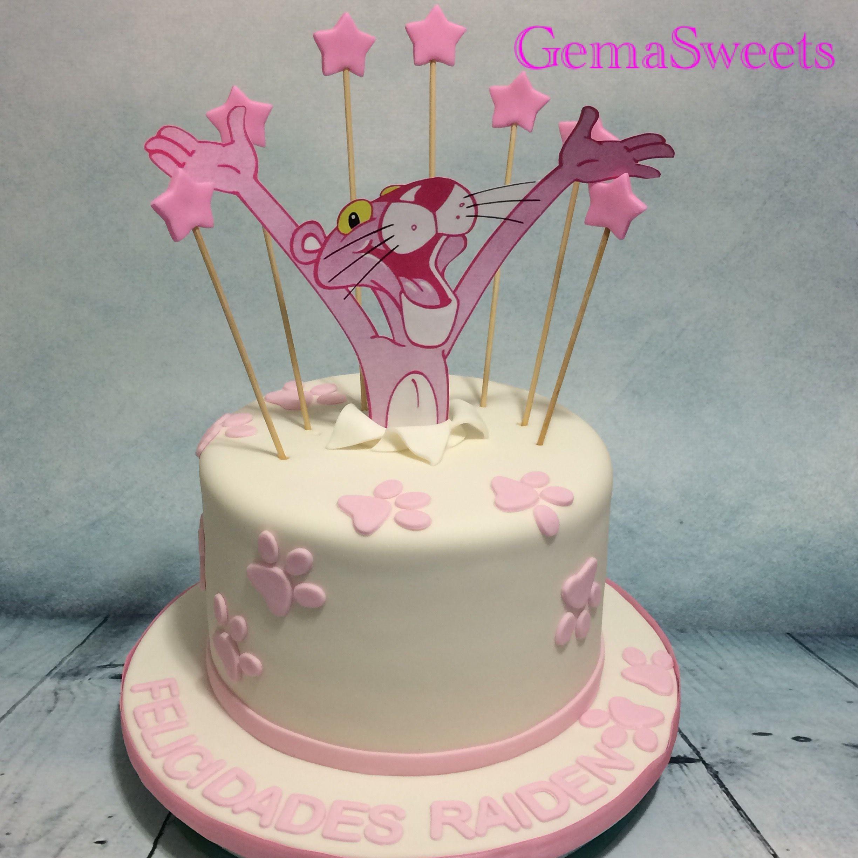 Pink Panther Cake By Gema Sweets Pantera Cor De Rosa Cor De