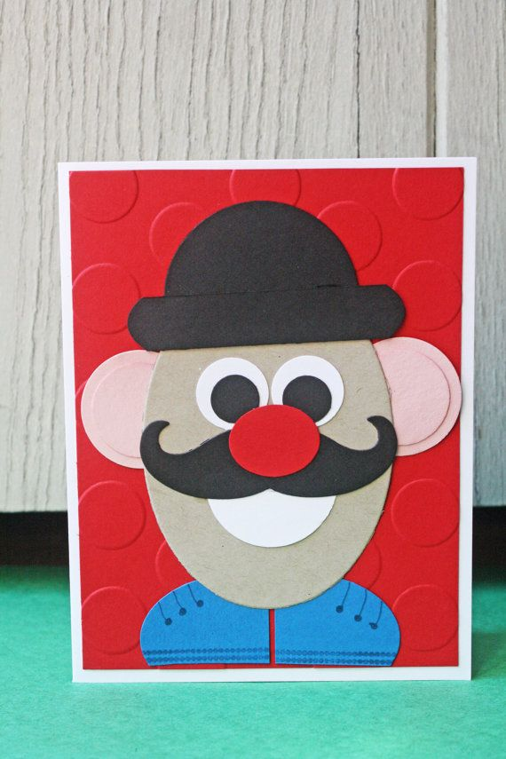 Mr Potato Head Handmade Card Birthday Card by HootandTootsLoot – Mr Potato Head Birthday Card