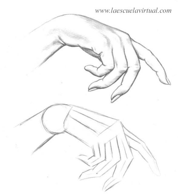 Como dibujar las manos pasrte 2 tutorial gratis curso online how to ...