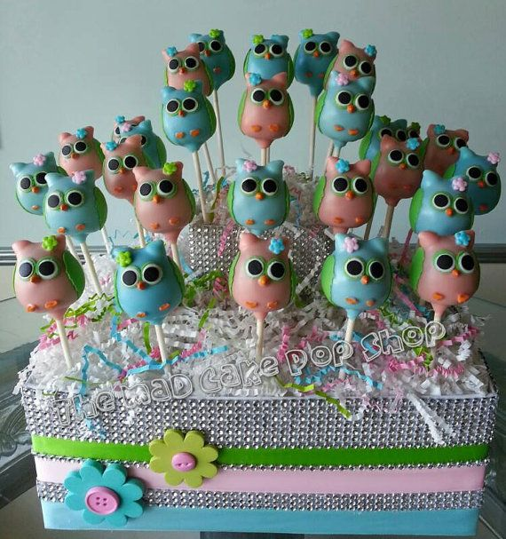 Owl Cake Pops Owl Baby Shower Owl Bridal Shower Edible Party
