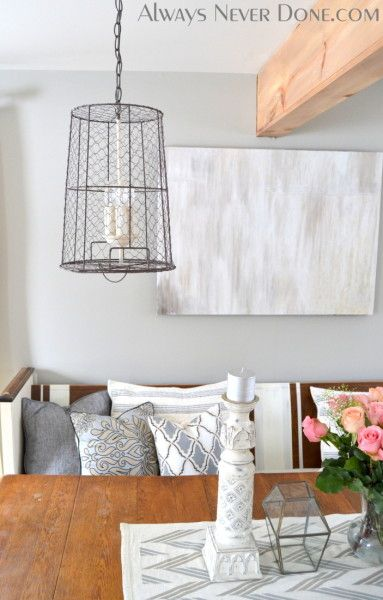 Chicken-Wire-Trash-Can-Light-Always-Never-Done 13   DIY For The Home ...