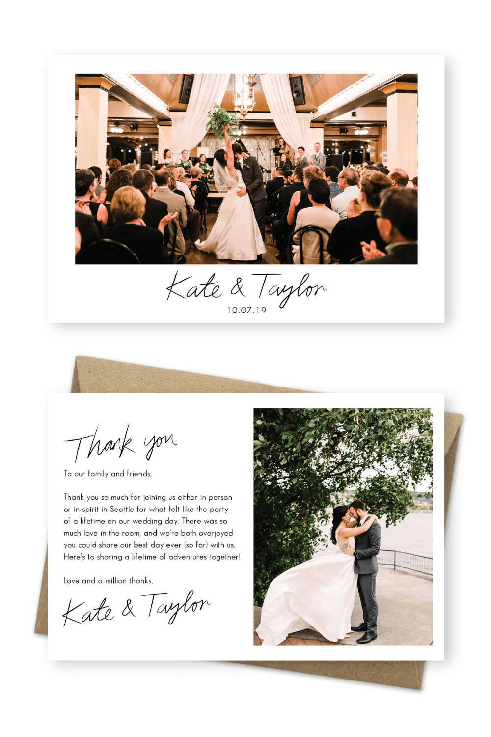 Wedding Thank You Messages From Bride And Groom What To Write In A Wedding Thank You Card For The Love Of Stationery In 2020 Wedding Thank You Messages Wedding