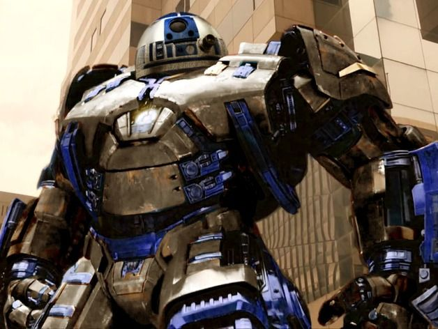 R2D2 went to the gym/R2D2 Hulkbuster meshup by Dp90pusika