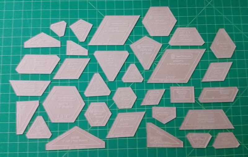 the new hexagon acrylic cutting templates english paper piecing