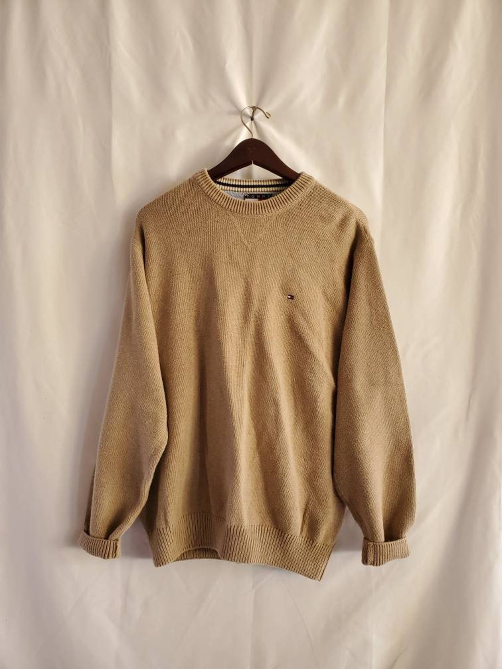 Vintage Tan Tommy Hilfiger Solid Sweater Crewneck Plain Beige Etsy Solid Sweaters Sweaters Beige Crewneck [ 1333 x 1000 Pixel ]