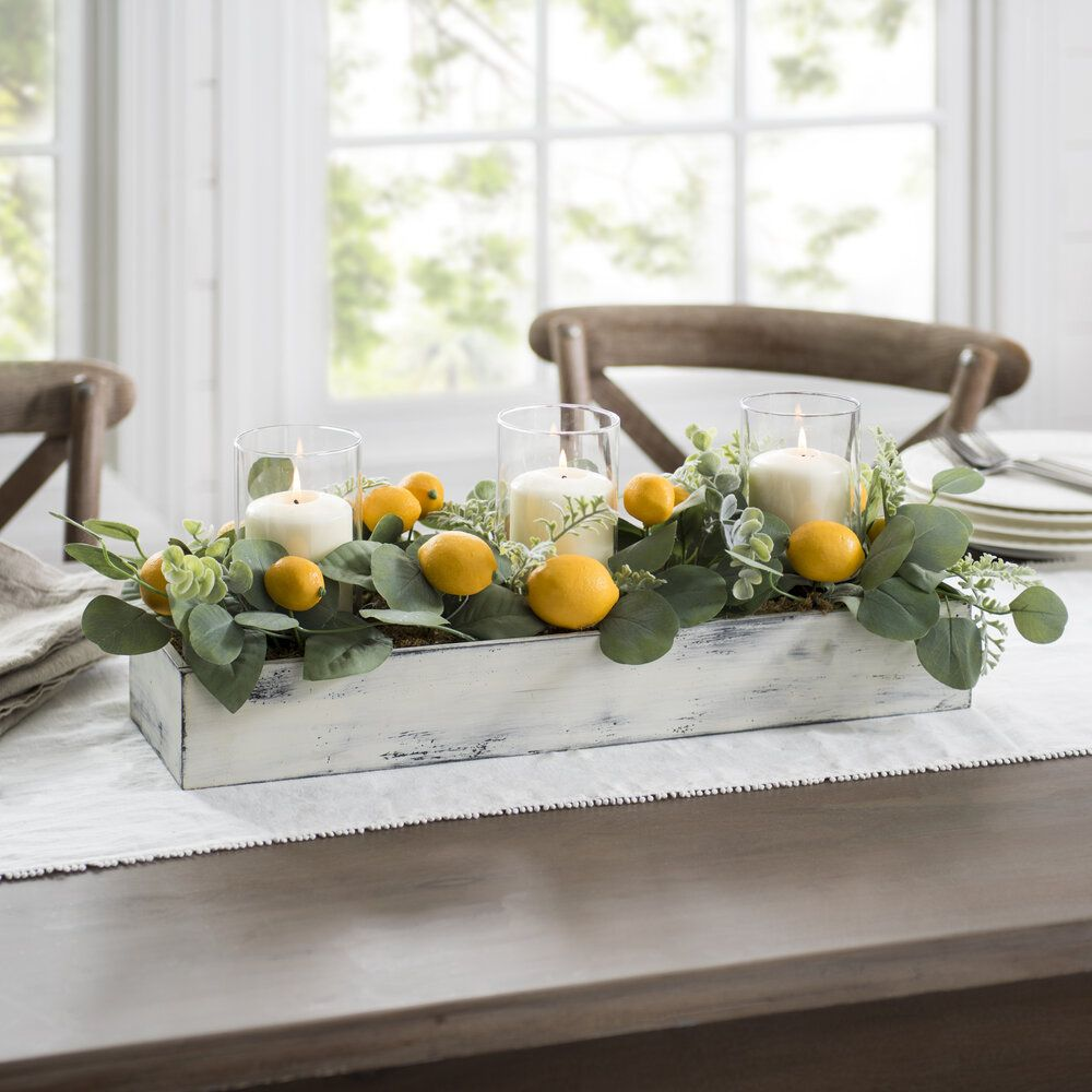Our Favorite Pieces For Adding Yellow To Your Home Half Full Table Centerpieces For Home Kitchen Table Centerpiece Dining Room Table Centerpieces