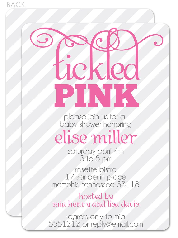 Tickled Pink Bridal Shower Invitation Tickled Pink Baby Shower Invitations Pink Baby Shower Invitations Tickled Pink Baby