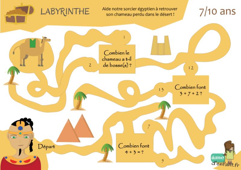 Le labyrinthe du sorcier égyptien (7/10 ans) | Labyrinthe à imprimer, Jeu labyrinthe et Labyrinthe