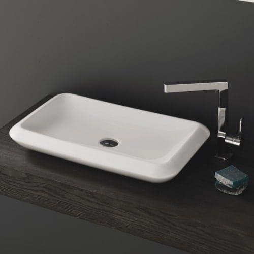 Nameeks 075700 U Cerastyle More 26 Ceramic Vessel Bathroom Sink White No Hole Sink Vessel Sink White Ceramics