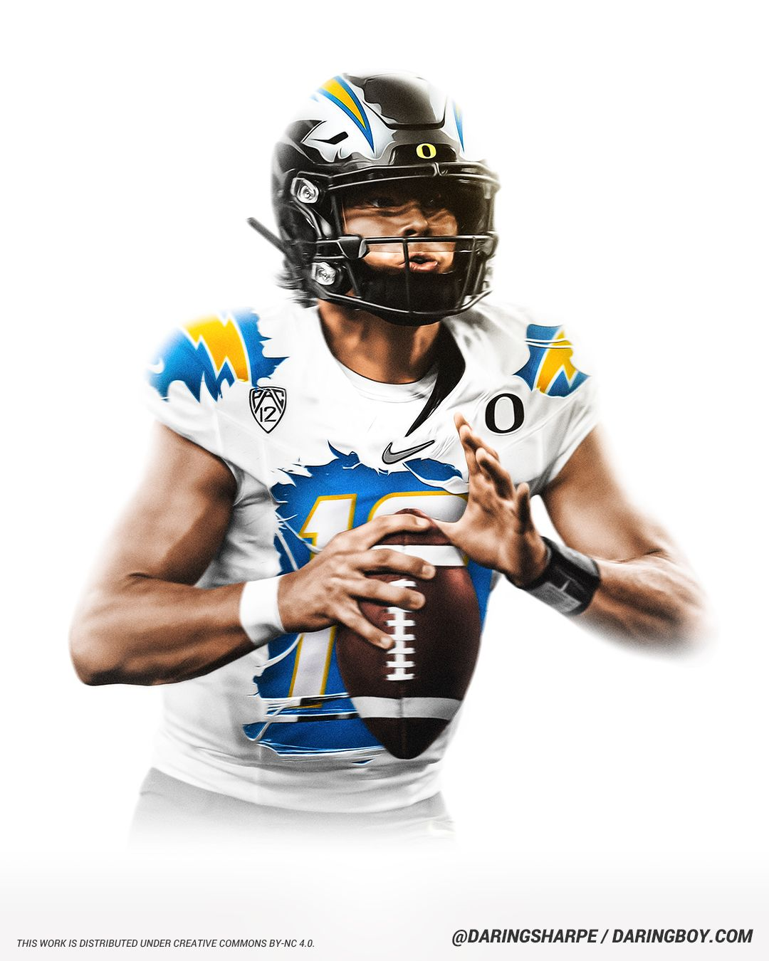 Justin Herbert Los Angeles Chargers Oregon Ducks In 2020 Los Angeles Chargers Oregon Football Chargers Football