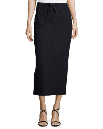 a8ab586c00 Joseph Jasper Lace-Up Scuba Pencil Midi Skirt | Stitch Fix | Skirts ...