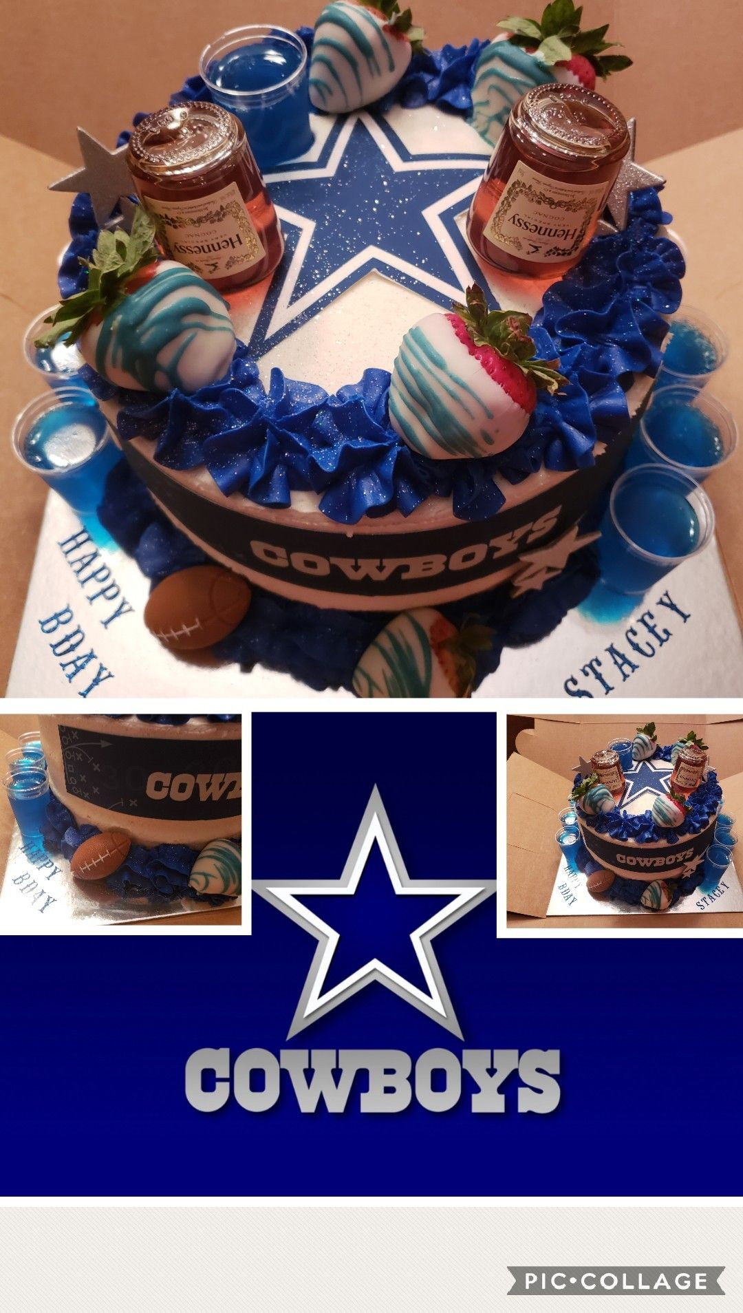 Cool Cowboys Birthday Cake Favorite Team And Drink Dallas Funny Birthday Cards Online Alyptdamsfinfo