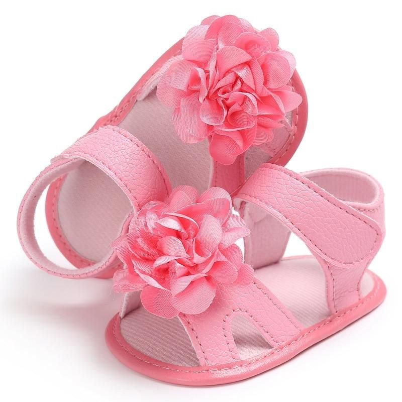 5d2d02231c056 Raise Young Summer PU Leather Baby Girl Sandals Soft Soles Flower Solid Toddler  Girl Shoes Newborn