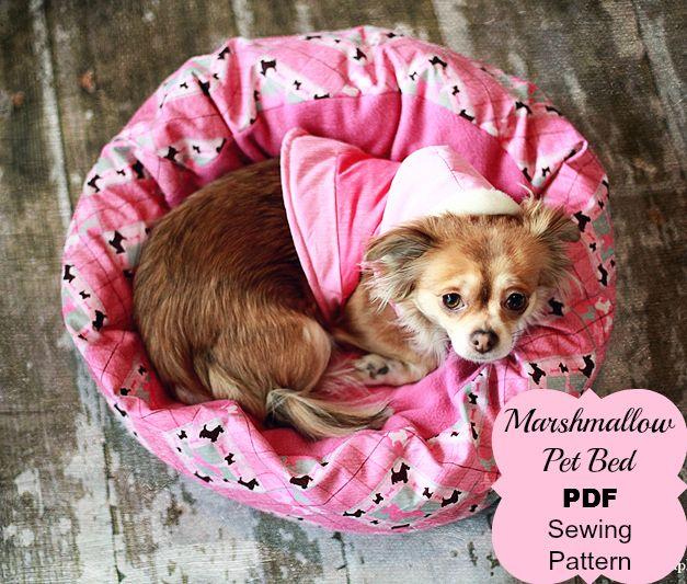 Marshmallow Pet Bed Pdf Sewing Pattern Dieren Breien