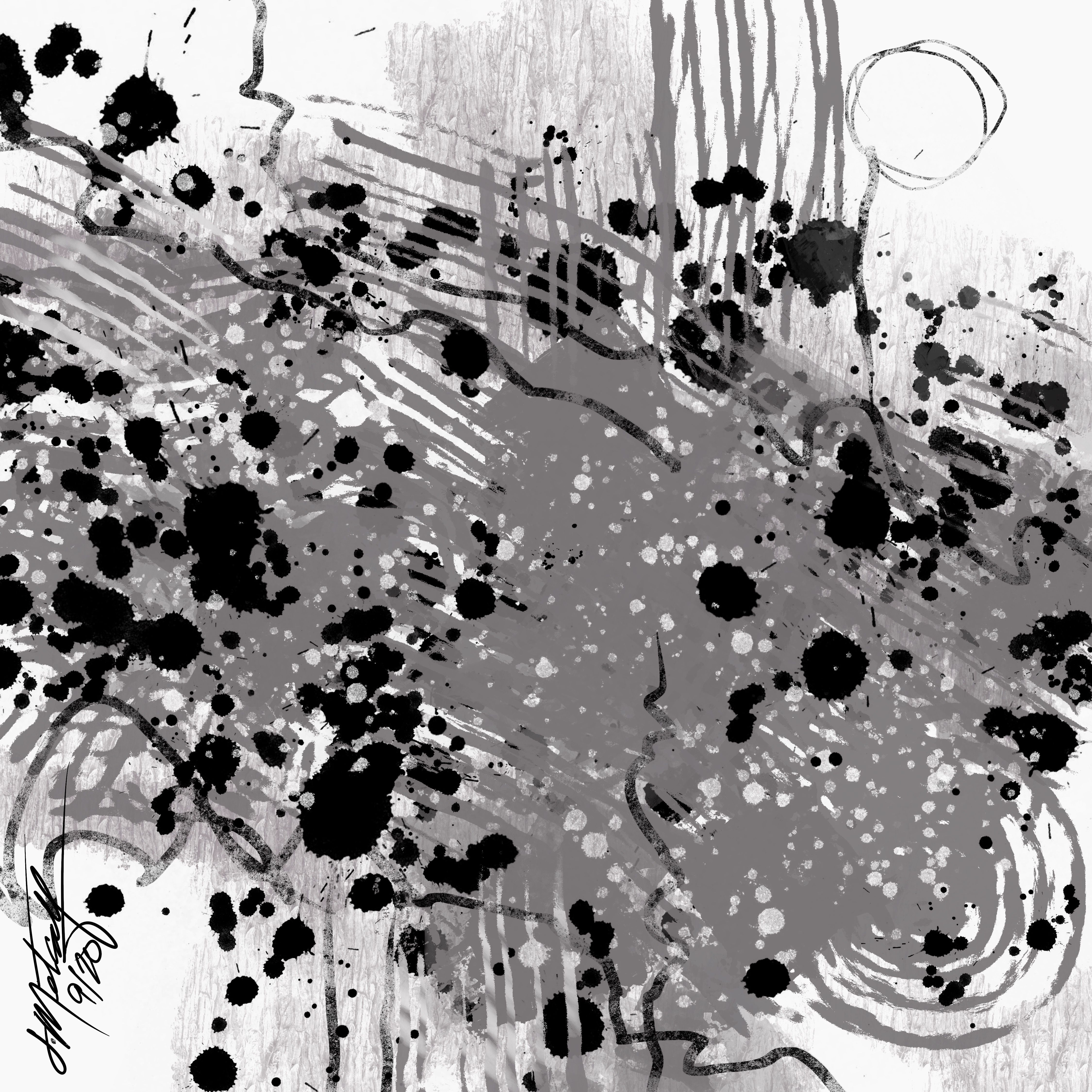 Gray Matter - abstract expressionist painting. Buy prints from 8