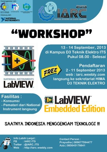 Workshop LabVIEW dan LabVIEW Embedded Editiion http://bit.ly/17BRd7r