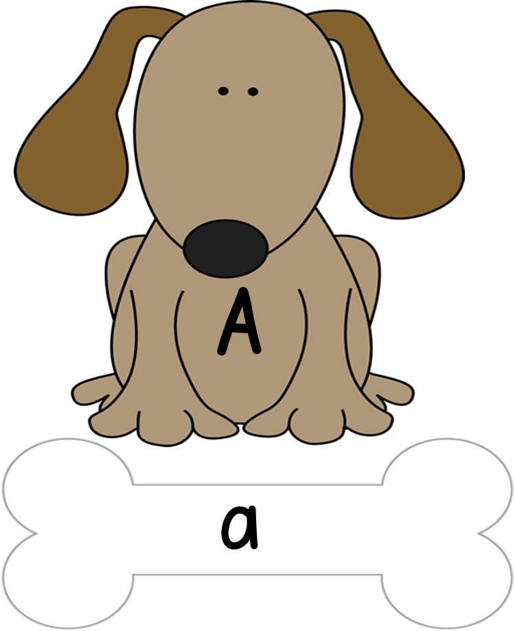 Give A Dog A Bone Alphabet Uppercase Lowercase Matching A To