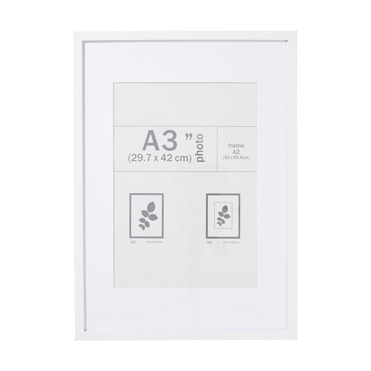 A2 Photo Frame White - 29.7cm x 42cm | Elizabeth Ann | Pinterest