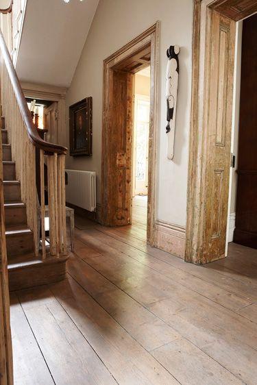 Laminate Entryway Flooring Ideas: Wide Plank Hardwood Floor Entryway