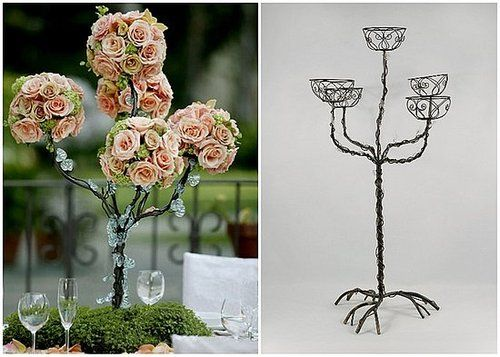 Affordable DIY tree and floral centerpieces Sure to make a