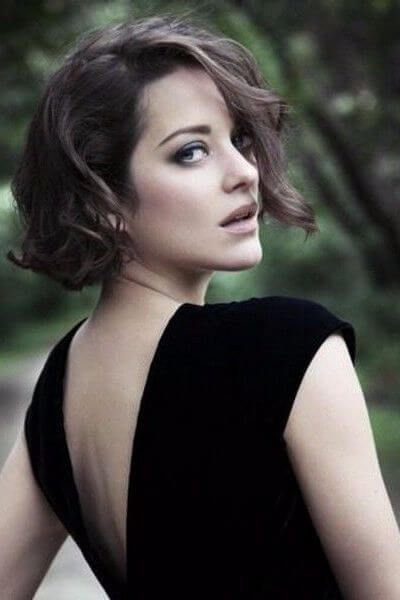 Short French Bob For Wavy Hair Marion Cotillard Hair Short Wavy Hair Marion Cotillard