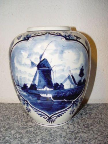 alte vase delft blau holland delfter porzellan blau delft und vase. Black Bedroom Furniture Sets. Home Design Ideas