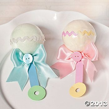 Baby Rattle Bath Fizzies Idea Diy Baby Shower Gifts Baby Shower