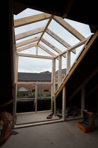 Dormer Window Construction House Addition Attic
