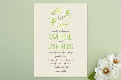 Non-Photo Wedding Invitations + Free Guest Addressing | Minted
