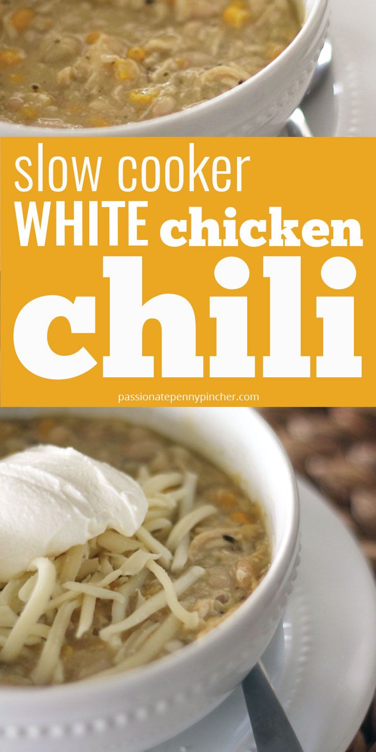 Slow Cooker White Chicken Chili White Chicken Chili Chicken Chili Crockpot White Chicken Chili