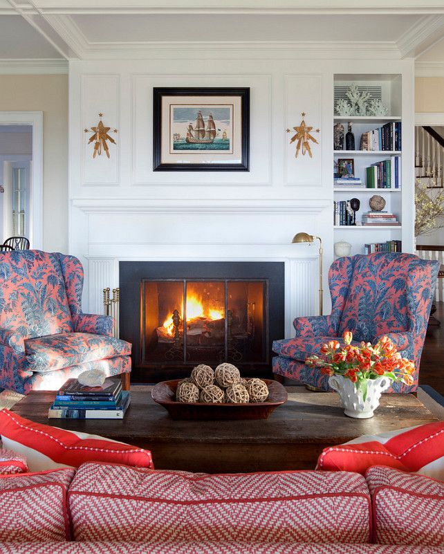 Coastal Cottage Living Room Furniture 2: Fireplace Is Like Mine. Traditional Nantucket Cottage With