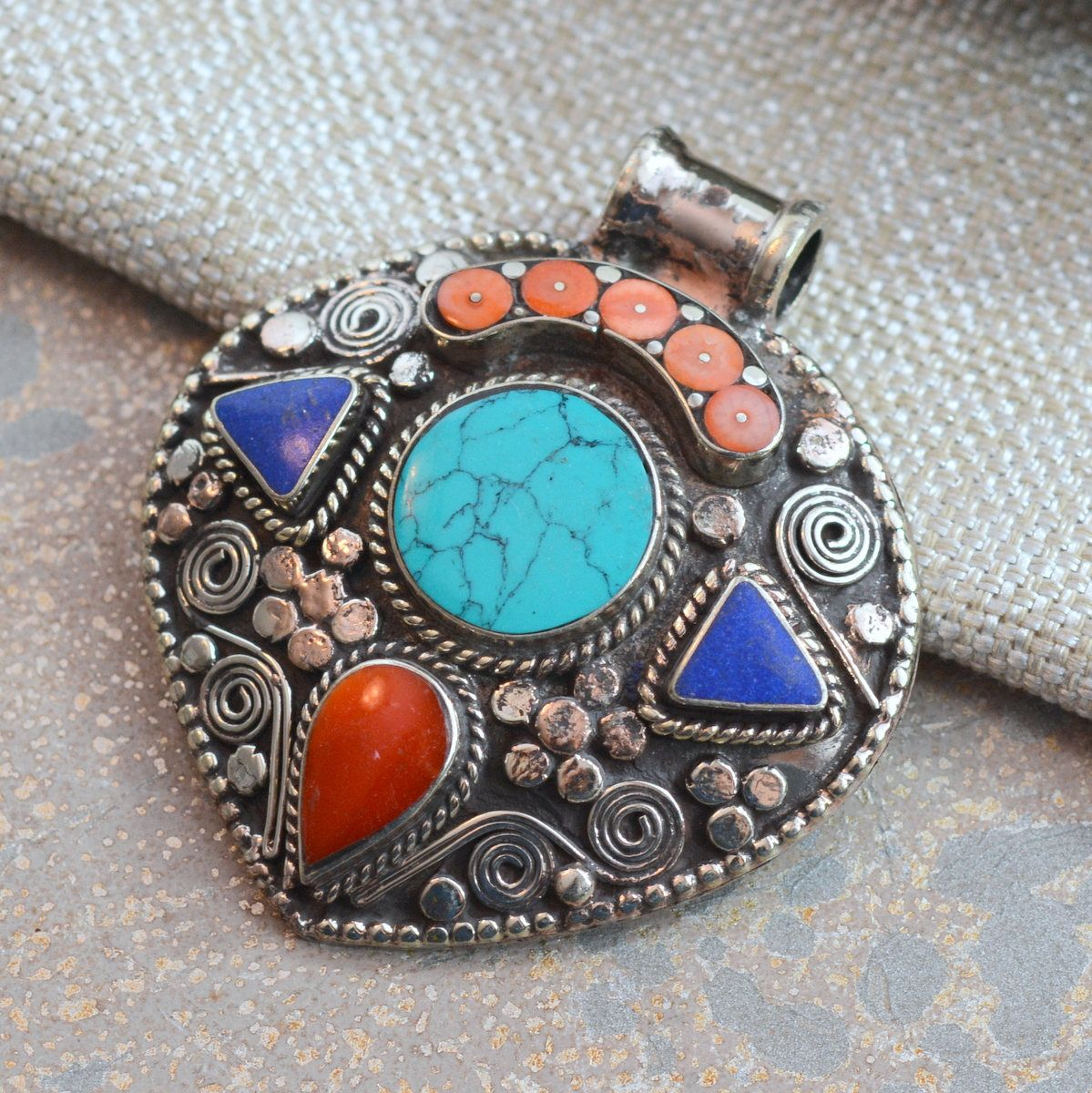 antique fine products arts tibetan necklace sharktooth jewelry img pendant handmade mahakala at