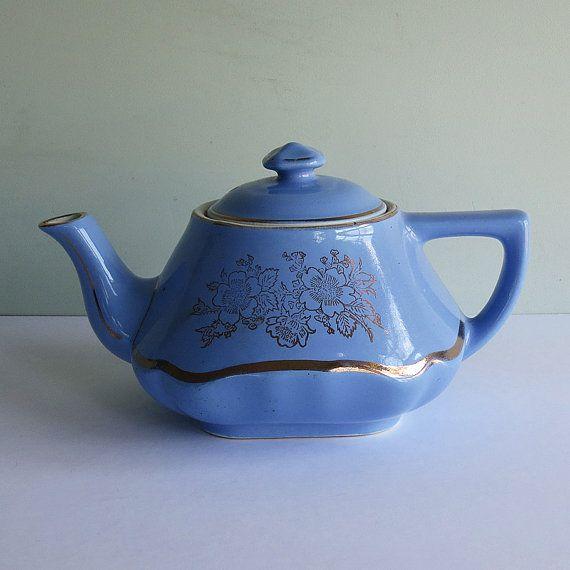 Lovely Hall Cobalt Blue Teapot