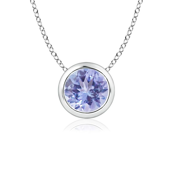 Angara Solitaire Tanzanite Bezel-Set Necklace in 14k White Gold 2i5Qqs
