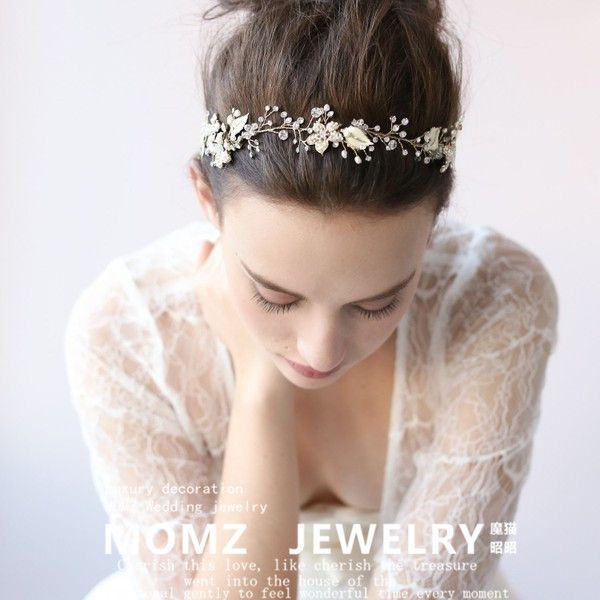 Popular Short Hair Headband Buy Cheap Short Hair Headband Lots From China Short Floral Bridal Headbands Rhinestone Bridal Headband Bridesmaid Hair Accessories