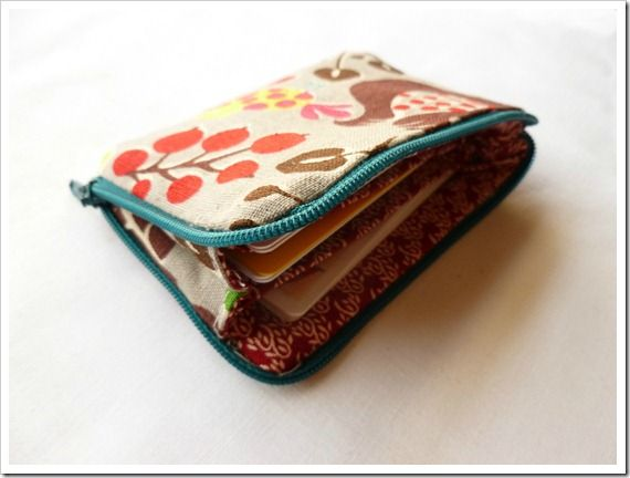 Abernathy Crafts Zippered Card Pouch Card Pouch Small Wallet Diy Sewing Bag