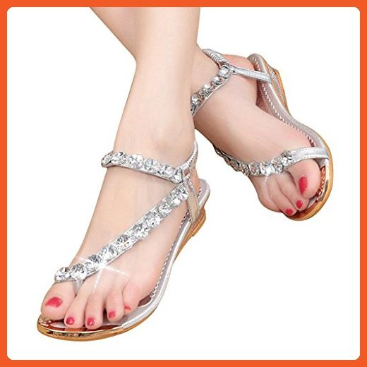 Flat Dear Sandals Heel US women 5 5 for Time Women Sandals WCxQdBore